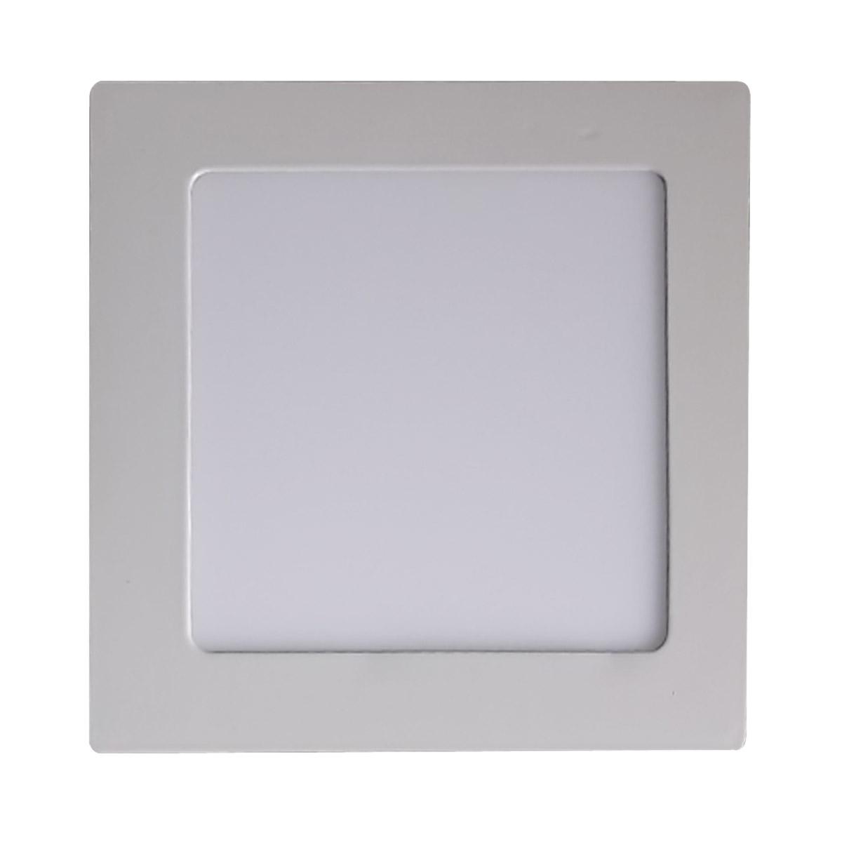 Lumin Ria Led Paflon Sobrepor Luz Branca Quente 12w Quadrado Blps